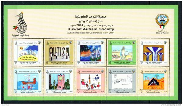 Adaptable Koweït - 2014 Autism Society Miniature Feuille Non Montés Comme Neuf