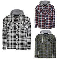 Addict Mens Standard Hooded Shirt 100 Cotton Chambray