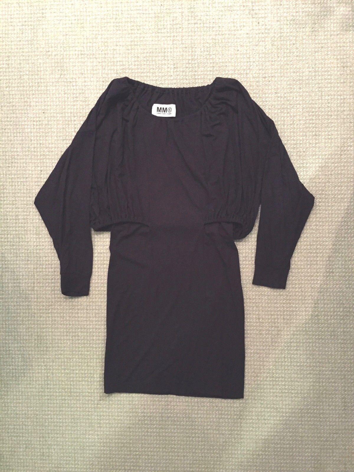 042fef696281 MM6 MAISON MARGIELA nero Dress lunghe (XS) maniche Little npacrf2276-Vestiti