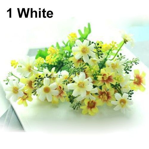 EG/_ 1 Bouquet 28 Heads Dedicated Trendy Fake Daisy Silk Flower Home Wedding Deco