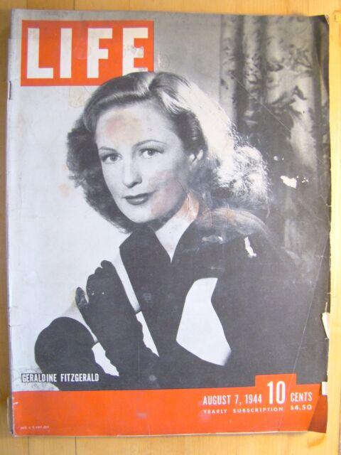 Life Magazine August 7 1944  Geraldine Fitzgerald First Negro Votes In Texas Pri