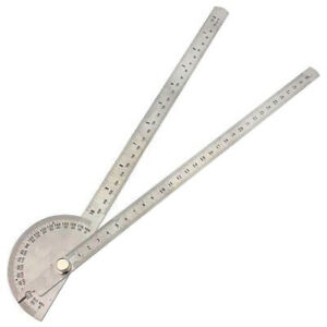 0-180-Stainless-Steel-Round-Head-Dual-Arm-Protractor-Angle-Finder-Rotary-Ruler