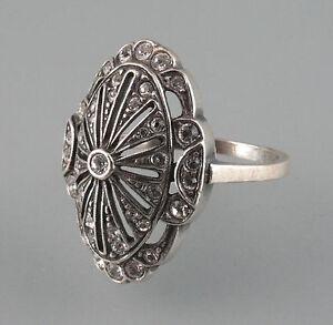 9901140-925er-Silber-Art-deco-deco-Ring-mit-Swarovski-Steinen-Gr-56