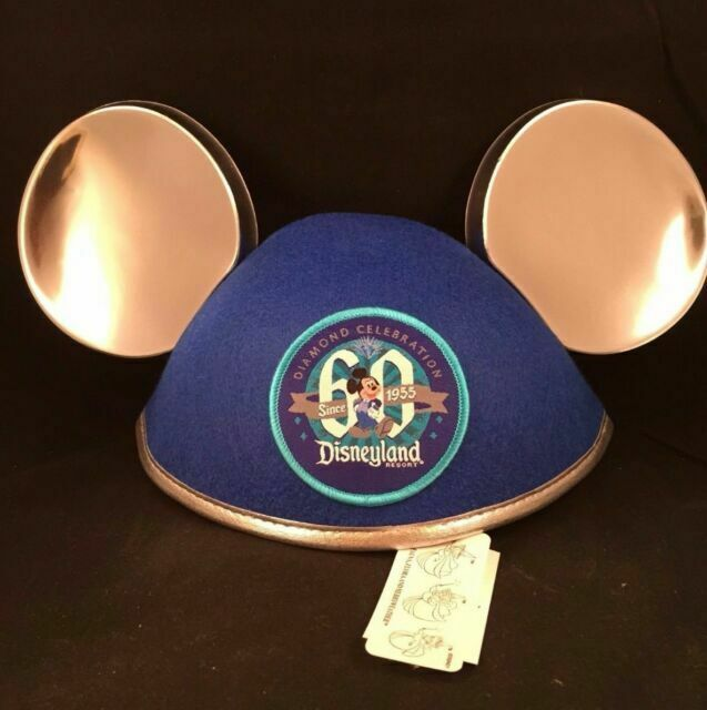 Disneyland Resort 60th Diamond Celebration Mickey Mouse Ear Hat New With Tag