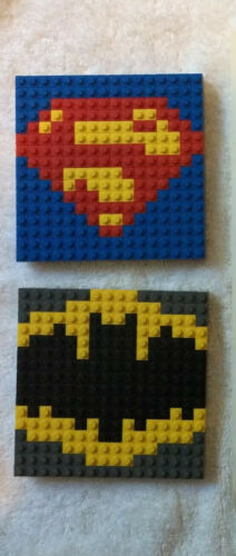 SUPER RARE Lego Toys R Us Exclusive Batman and Superman DC Super Heroes Shield