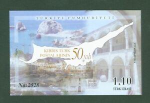 Tuerkei-Turkey-2014-50-Jahre-Post-tuerkisch-Zypern-Block-112-Auflage-nur-3000