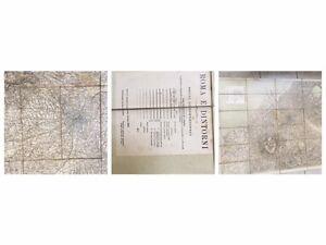 Cartina Geografica Roma E Dintorni.1909 Cartina Geografica Roma E Dintorni Ebay