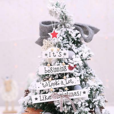 Christmas Colorful Wooden Pendant Door Decorations Hanging Party Decor Ornaments