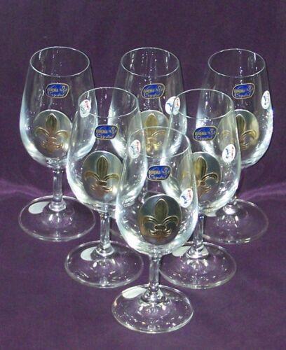 6 Verres à Vin de dégustation  Fleur de Lys en Etain