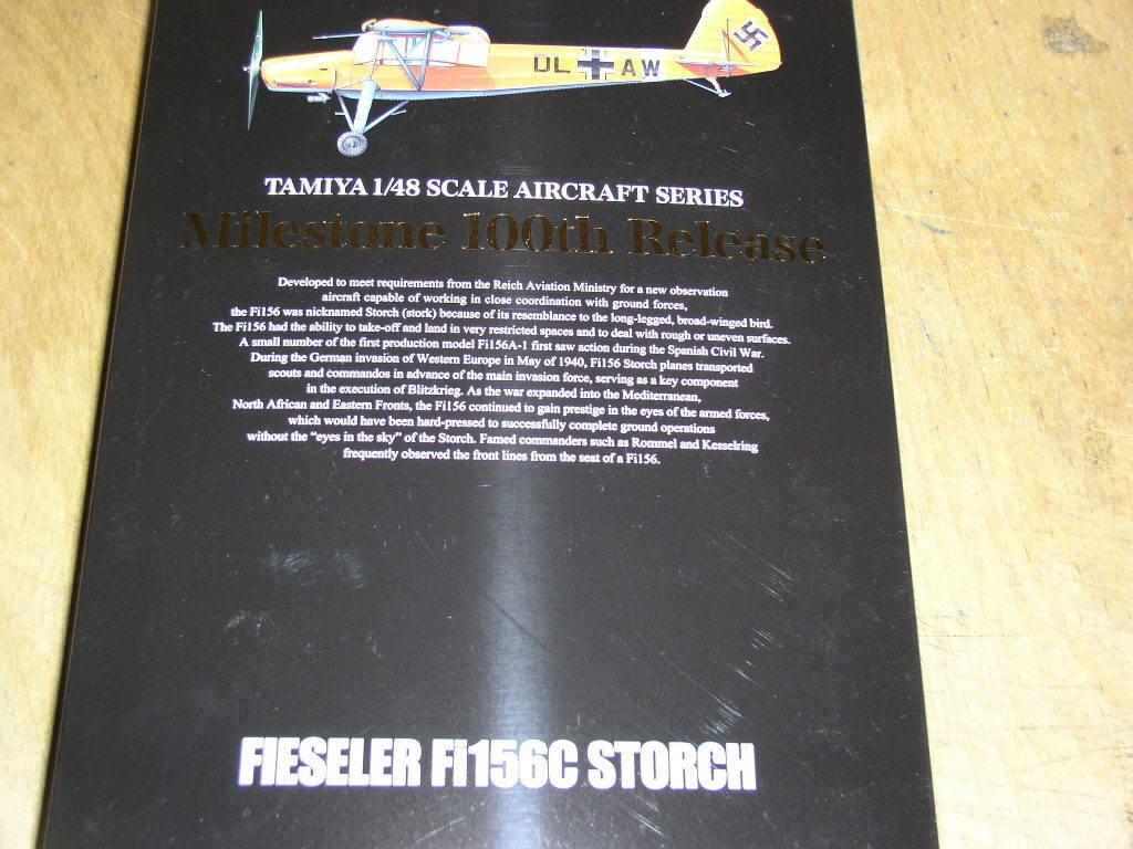 Tamiya 1 48 Fieseler Fi 156C Storch Model Air Plane Kit