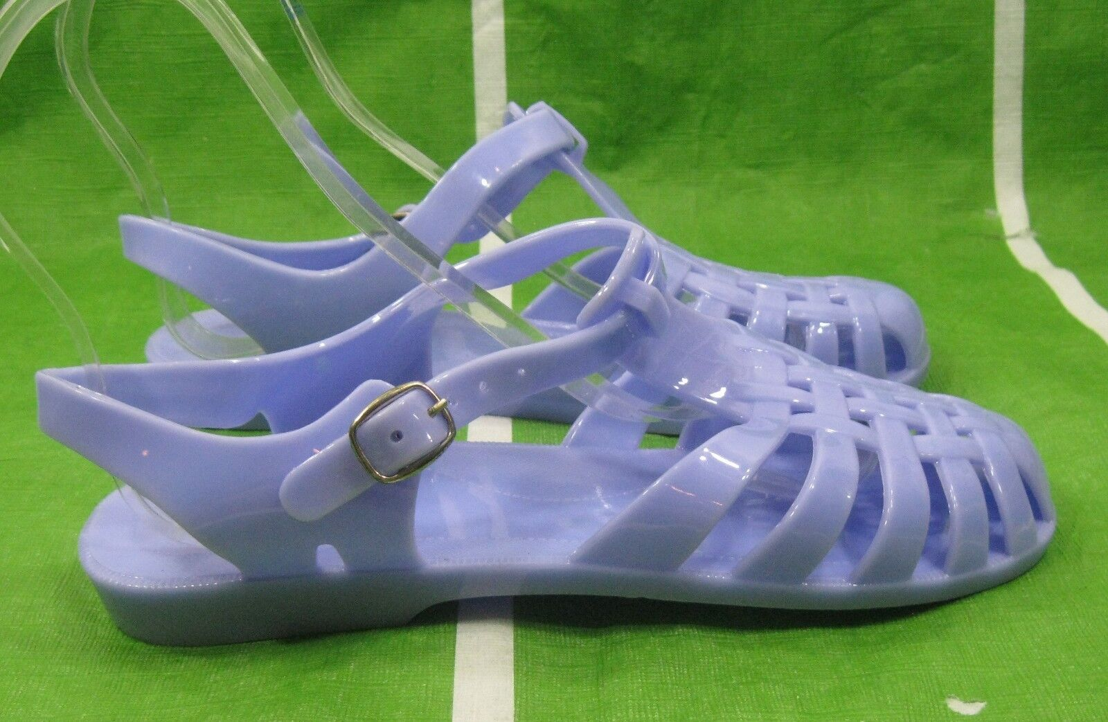 new ladies Womens blue Summer Jelly Beach Retro Flat Jellies Jelly Summer Sexy Sandal Size 9 42b286