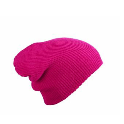 MB Oversized Slouch Beanie Hat Cap 10 Colours Mens Ladies Knitted Woolly Winter