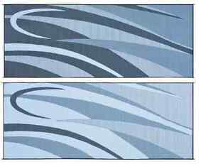 Image Is Loading Reversible Rv Patio Rug Mat Black Silver Graphic