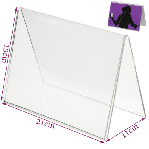 5x Clear Menu Show card Name Place Table Setting Display Tent Stand Holders