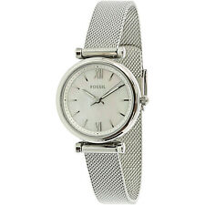 Fossil Women's Carlie ES4432 Silver Stainless-Steel Japanese Quartz Dress Watch