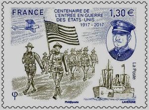 TIMBRE-5156-NEUF-XX-Entree-en-Guerre-des-Etat-Unis-1917-2017