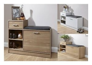 Image Is Loading Malmo Modern Shoe Bench Hallway Versatile Storage With