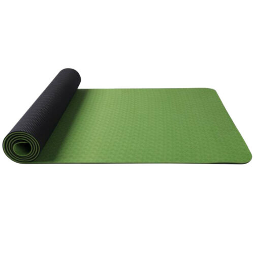 Fitness Workout Yoga Mat Anti-skid 6mm Thick TPE Comfort Foam Exercise Gym Mat