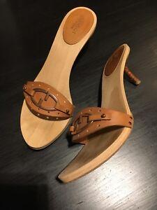 Gucci Wooden Sandals Slides Clogs