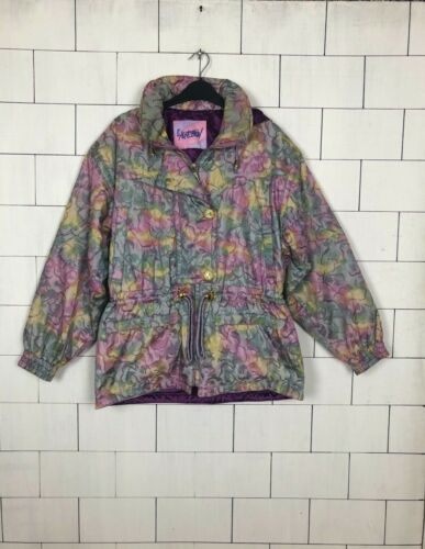 14 Retro Style Jacket Bold Coat Uk Urban Vintage 493 Bright Ski Windbreaker HROvwdv