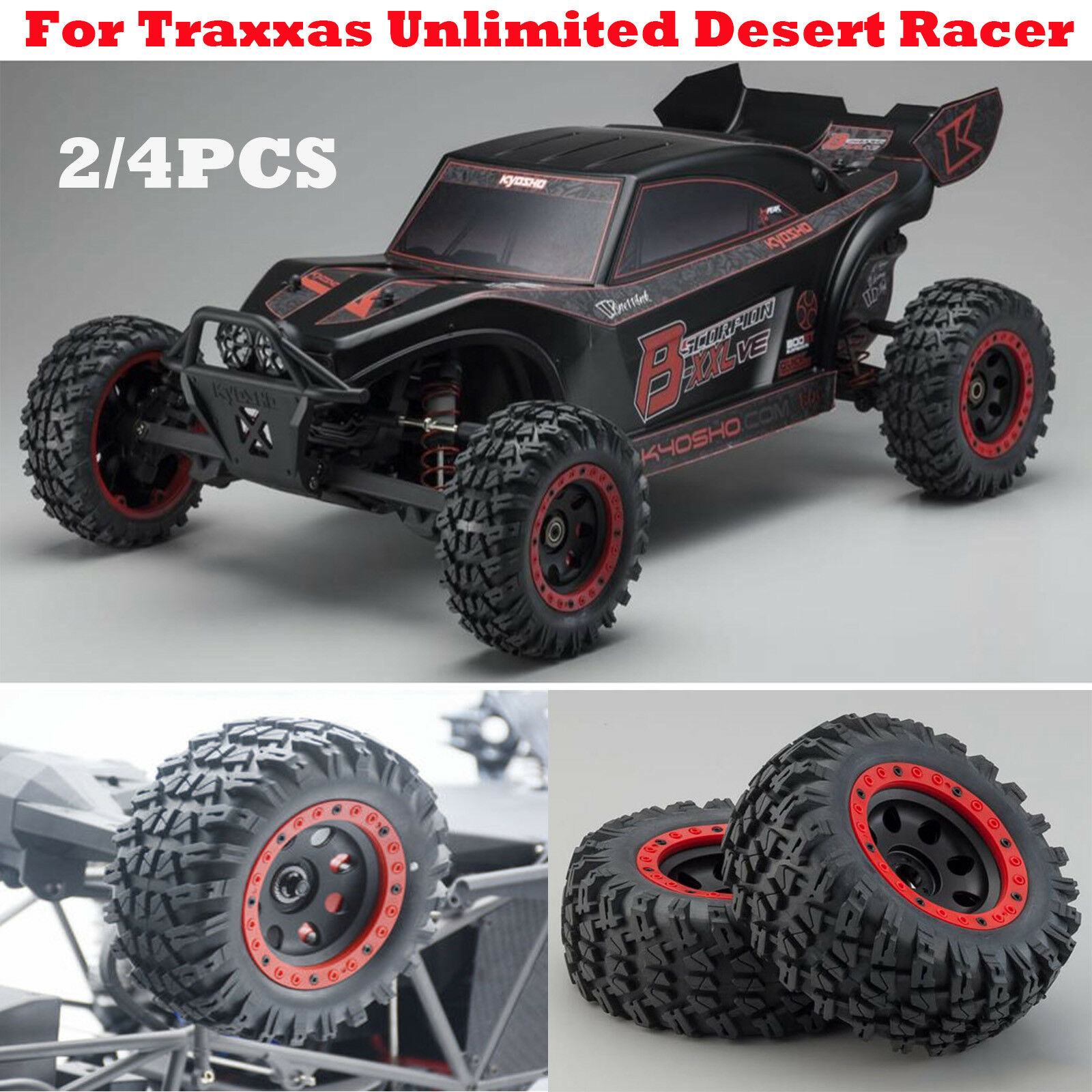 17mm Big Tires Wheel without Paste for 1/7 RC Traxxas Unlimited Desert Racer UDR