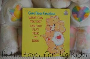 Unused-NEW-OLD-STOCK-Vintage-1986-Board-Book-WHAT-CAN-YOU-DO-Care-Bear-Cousin