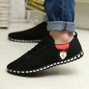 men's breathable fashion casual running sports flat