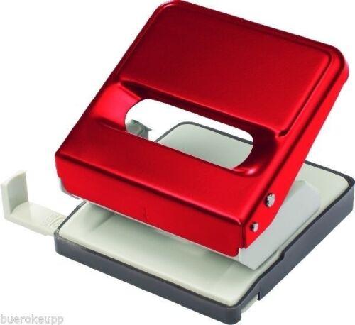 25 Blatt rot BRG308002 Vollmetall NEU Anschlagschiene f Büro-Locher m