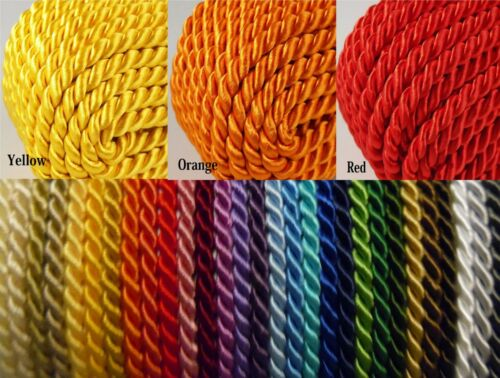 3.5mm Twisted Soutache Braid Braided Cord Rope 30 Colours Piping Cushion Edging