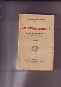 le-craquement-charles-henry-Hirsch-flammarion-paris