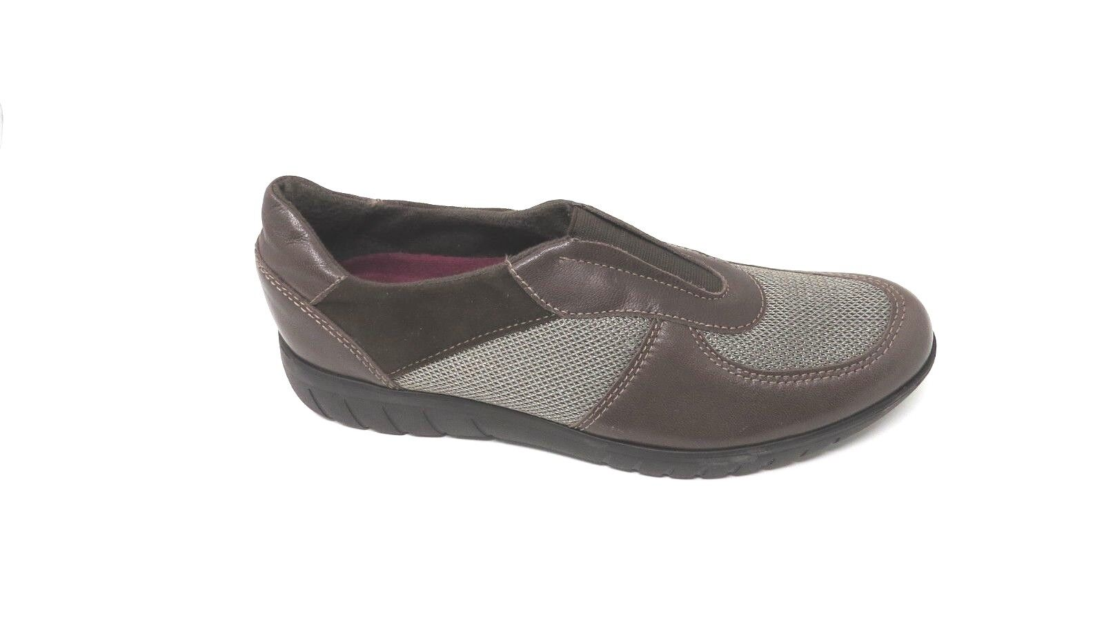 Munro marron Couleur Leather Mesh Slip On baskets  chaussures femmes Taille 7