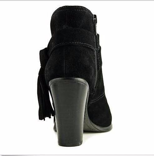 NEW Vince Camuto Booties FIANNA Tassel-Belt Suede Cumino Black Black Black SZ 9.5 MSRP  159 4b3c0c