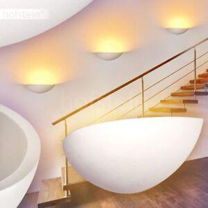 Keramik Wand Lampen weiß Flur Leuchten Wohn Schlaf Zimmer Beleuchtung bemalbar