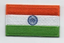 Embroidered INDIA Flag Iron on Sew on Patch Badge HIGH QUALITY APPLIQUE