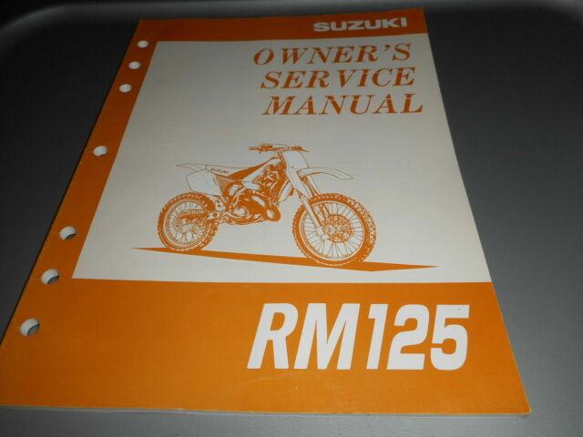 Suzuki Rm125 Rm 125 1996 Oem Owner U0026 39 S Service Manual