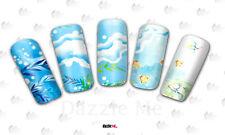 Nail Art de transferencia de agua Pegatina Arte Decorativo peces oceánicos calcomanías (DC201)