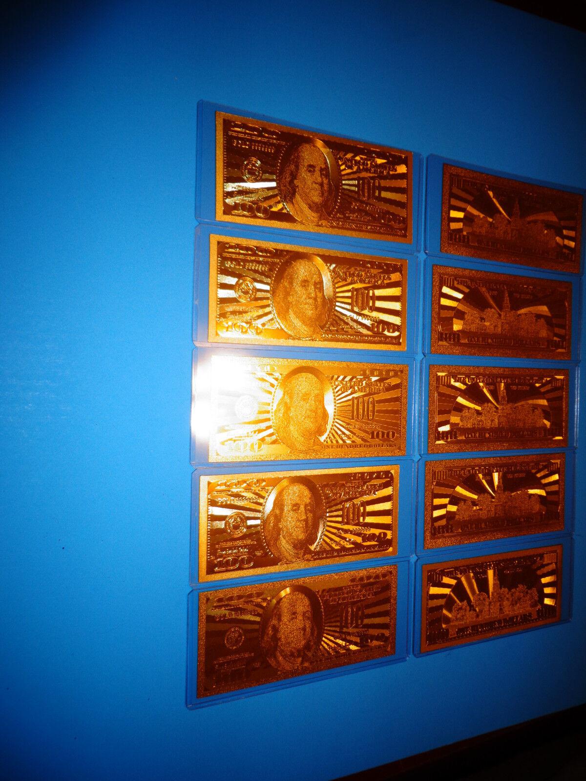 24 KARAT 99.9/% GOLD U.S.A $ 1 DOLLAR BILL* 2009*COMES IN RIGID PVC BILL HOLDER