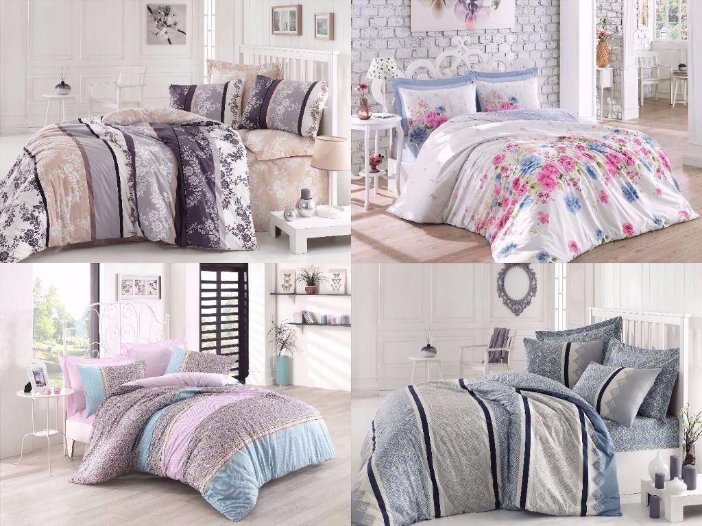 Beautiful Modern Cotton Duvet Cover 100% Cotton Bedding Set Reversible Queen
