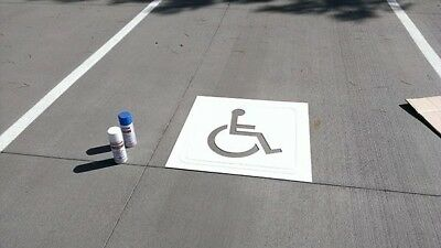 "30/"" Handi-Cap Parking Lot Stencil with Custom Cut with 2mm PVC"