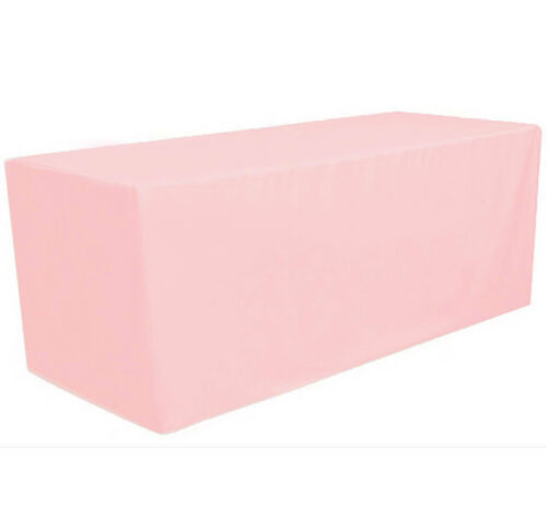 8/' ft Fitted Polyester Tablecloth Table Cover Wedding Banquet Party Pink