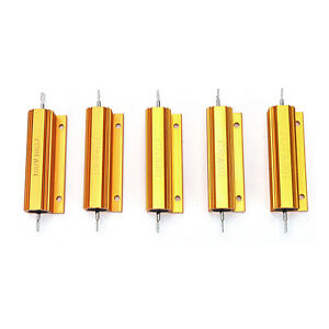 1-2-4-8-10-Ohm-100W-Watt-Shell-Power-Aluminum-Housed-Case-Wirewound-Resistor-YG