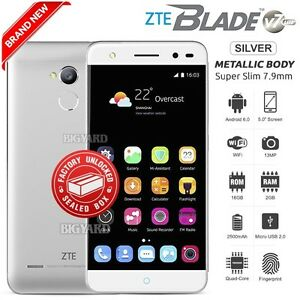 New-Sealed-Factory-Unlocked-ZTE-Blade-V7-Lite-Silver-4G-LTE-Android-Mobile-Phone