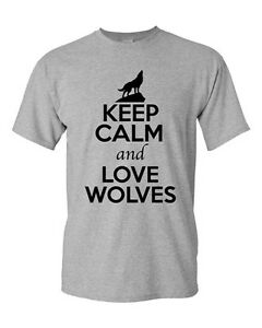 Keep-Calm-And-Love-Wolves-Gray-Wolf-Animal-Lover-Funny-Humor-Adult-T-Shirt-Tee
