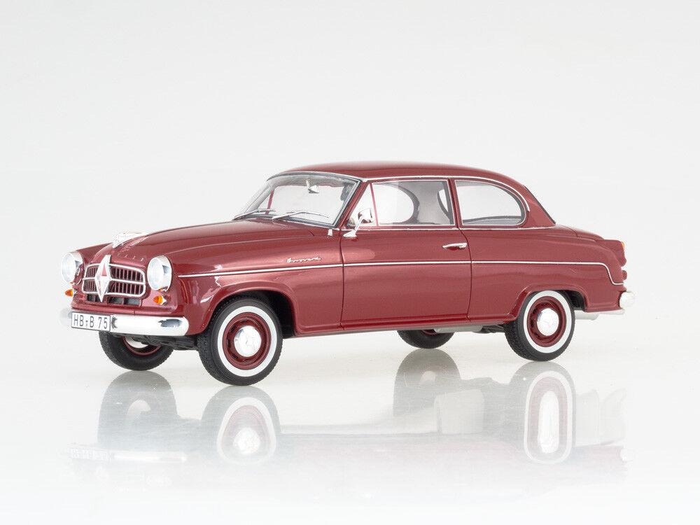 Escala modelo 1:18 Borgward Isabella Limusina, rojo oscuro