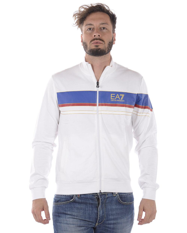 Felpa Emporio Armani EA7 Sweatshirt Hoodie Cotone herren Bianco 3ZPMA5PJ05Z 1100