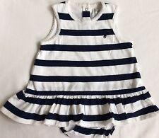 New Baby Girls  Ralph Lauren Striped Dress&Bloomer 3M