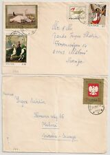 2 COVERS  POLOGNE POLAND TO SWEDEN. L591