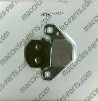 Tgb Disc Brake Pads Delivery 50 2006-2008 Front (1 Set)