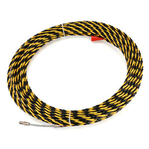 Electrician-Cable-Push-Puller-Wire-Rodder-Fish-Tape-6-5mm-30m-Conduit-Snake-Tool