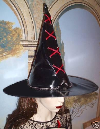 Hexenhut NERO VERNICE M CATENA Cappello Strega Costume Per Costume streghe